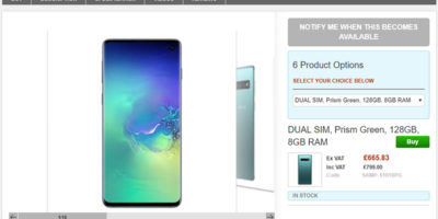 Clove Samsung Galaxy S10 商品ページ