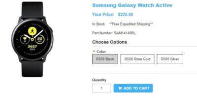 1ShopMobile.com Samsung Galaxy Watch Active 商品ページ