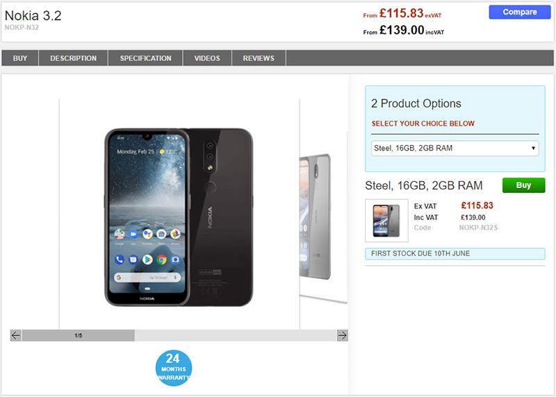 Clove Nokia 3.2 商品ページ