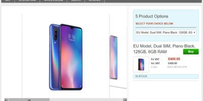 Clove Xiaomi Mi 9 商品ページ
