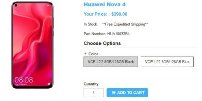 1ShopMobile.com Huawei nova 4 商品ページ