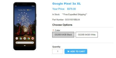 1ShopMobile.com Google Pixel 3a XL 商品ページ
