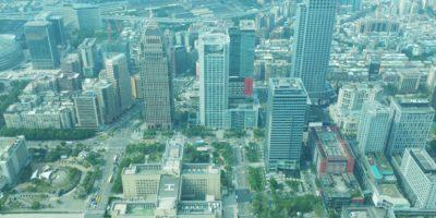 台北101の展望台からの景色