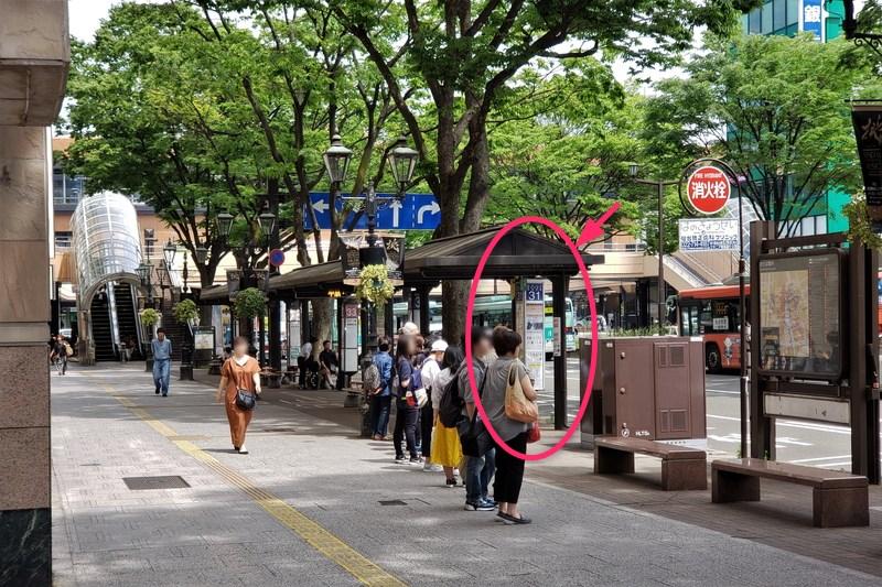 仙台駅前のバスのりば(31番)