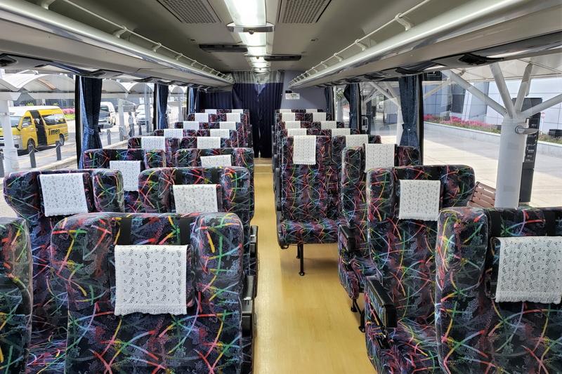 エアポートリムジンバスの内装