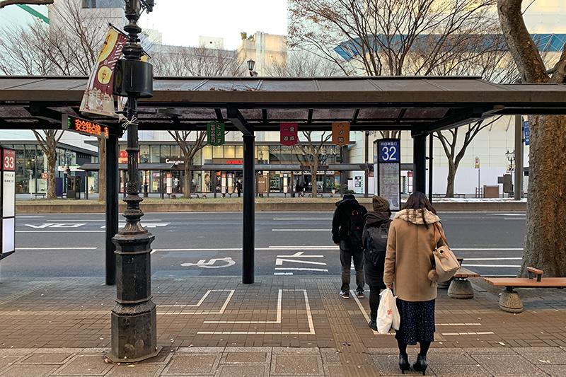仙台駅前のバスのりば(32番)