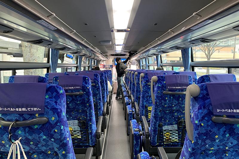 東日本急行のバス(内観)