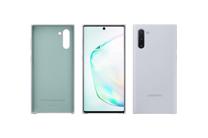 Samsung Galaxy Note10 Silicon Cover Silver