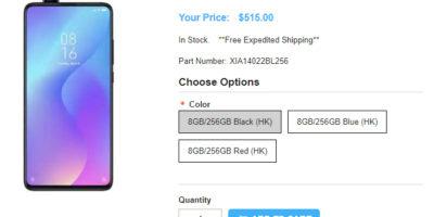 1ShopMobile.com Xiaomi Mi 9T Pro 商品ページ