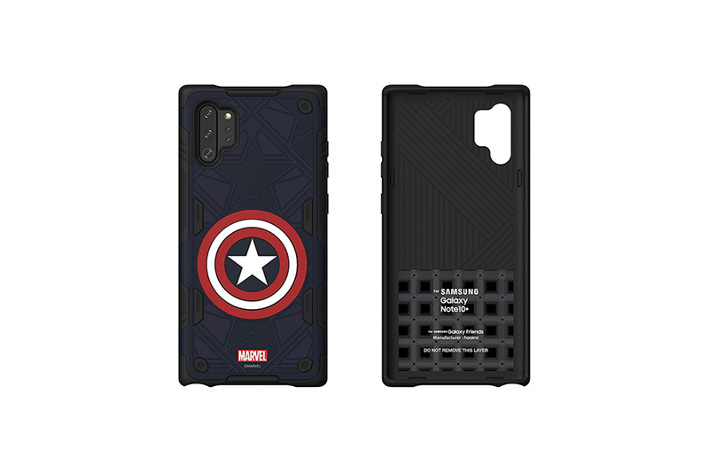Galaxy Friends Captain America Rugged Protective Smart Cover for Note10+