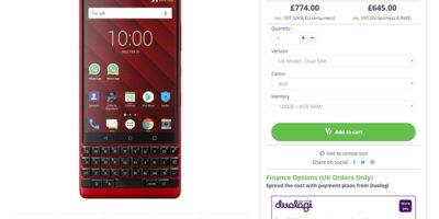 Clove BlackBerry KEY2 商品ページ