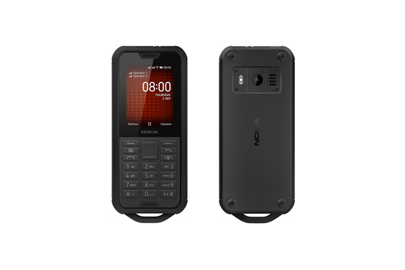 Nokia 800 Tough Black Steel