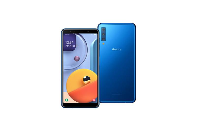 Samsung Galaxy A7 ブルー