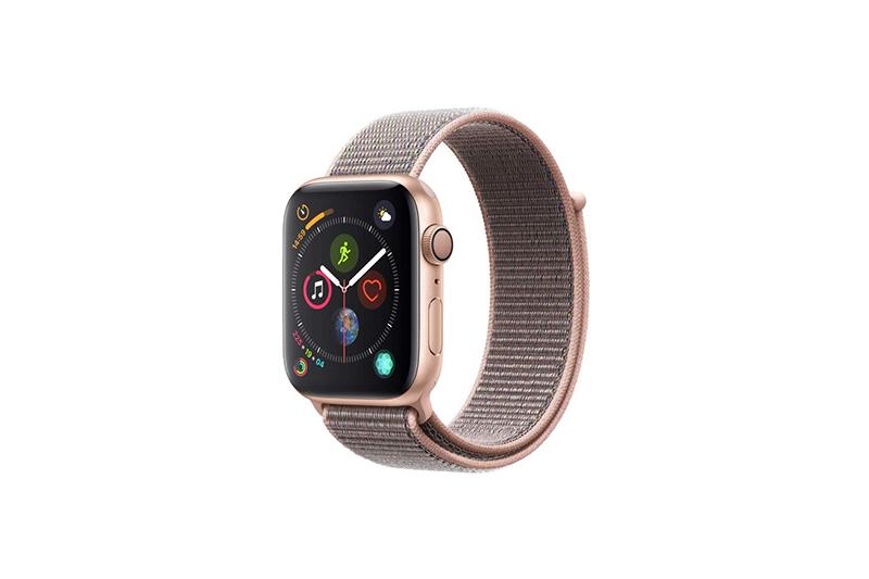 Apple Watch Series 4 GPSモデル 44mmゴールドアルミニウムケースとピンクサンドスポーツループ