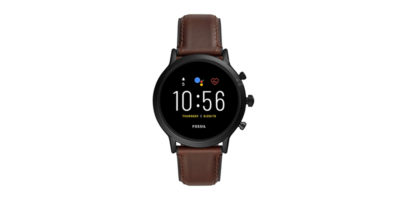 FOSSIL The Carlyle HR ダークブラウンレザー
