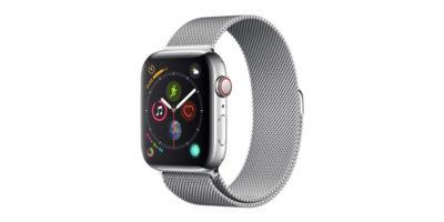 Apple Watch Series 4 GPS+Cellularモデル ステンレススチールミラネーゼループ