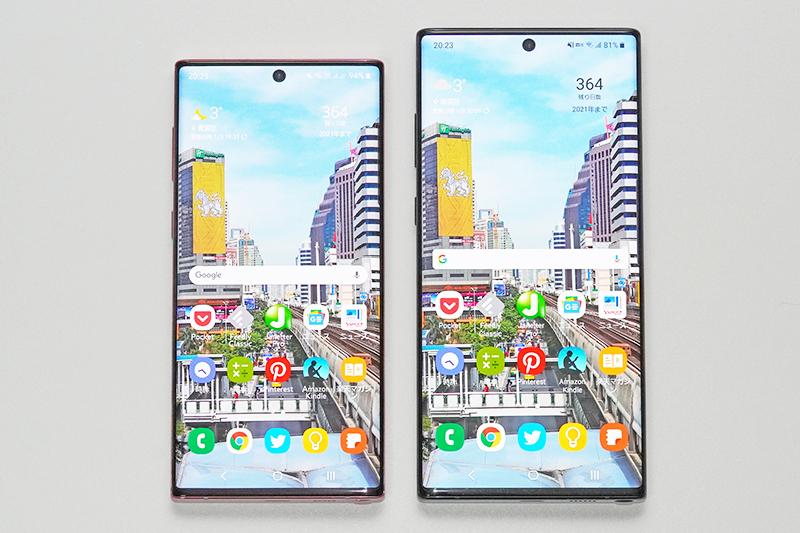 Galaxy Note10とGalaxy Note10+
