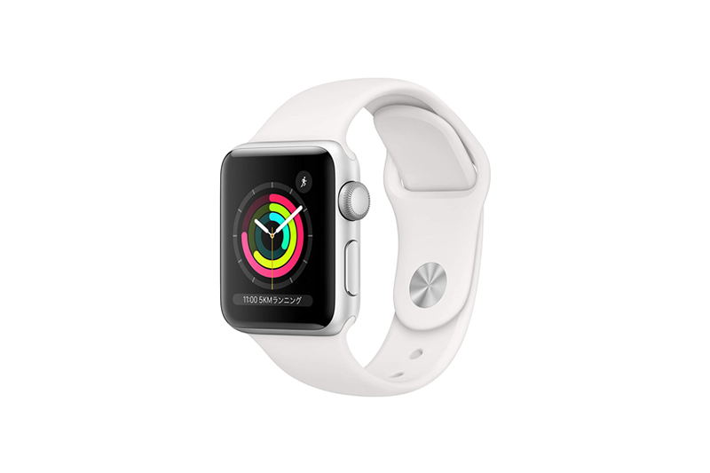 Apple Watch Series 3 GPSモデル シルバーアルミニウムケースとホワイトスポーツバンド
