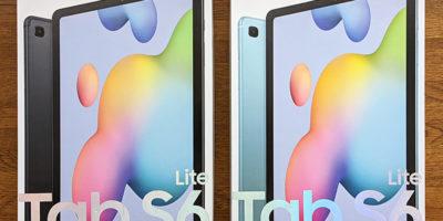 Galaxy Tab S6 Liteのパッケージボックス