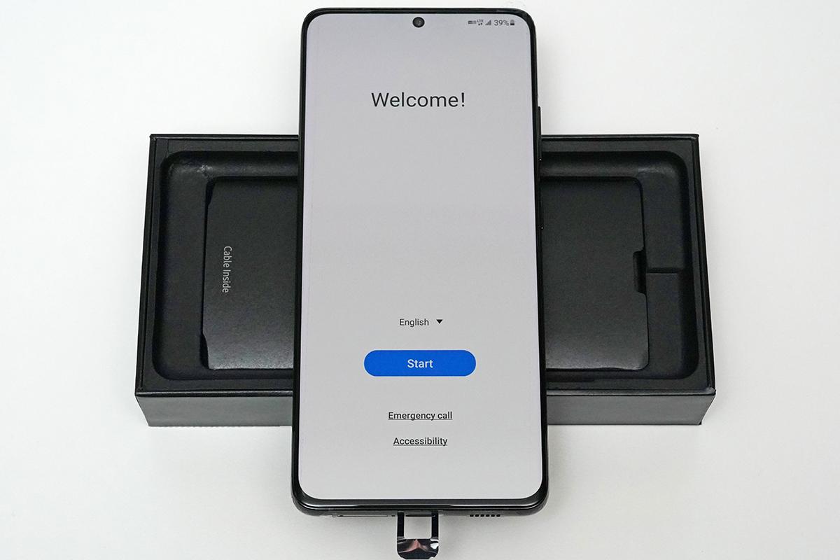 Galaxy S21 Ultra 5G SM-G998U1の初期設定画面