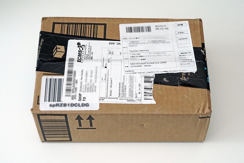 Amazon.comマーケットプレイスを利用して個人輸入したMicrosoft Surface Duo